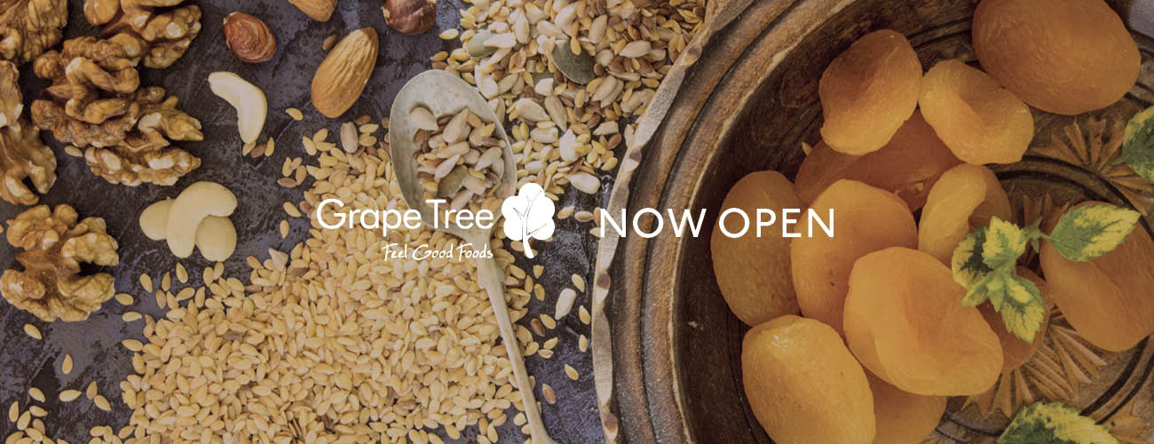 Grape Tree Open Now Banner