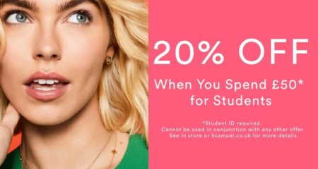 H.Samuel Welcomes Freshers with an epic Discount